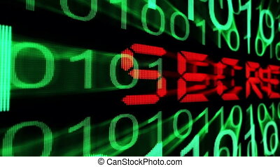 секрет, текст, на, монитор, экран