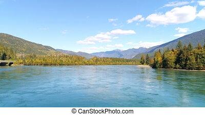 сельская местность, гора, река, сценический, 4k