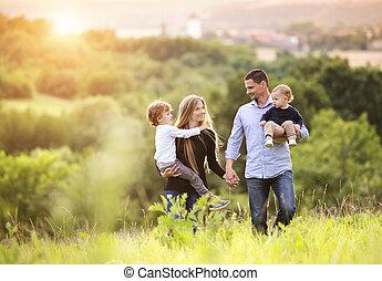 семья, счастливый