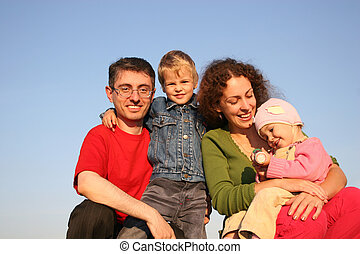 семья, of, 4