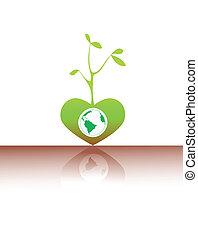 семя, зеленый