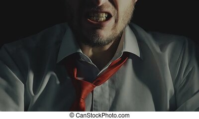 сердитый, главный, босс, или, бизнесмен, в, гнев, and,...