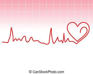 сердце, бить, абстрактные