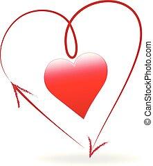 сердце, люблю, логотип