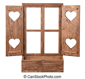 сердце, окно