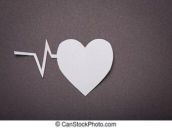 сердце, порез, пространство, текст, медицинская, пульс, ...