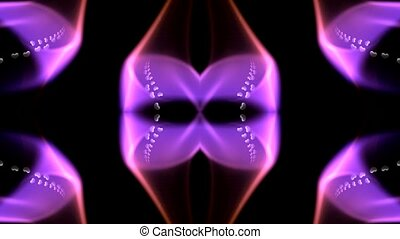 сердце, цветок, лазер, шаблон
