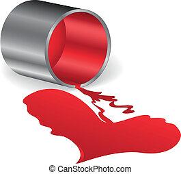 сердце, of, красный, покрасить