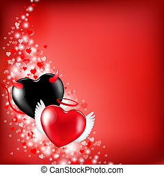 сердце, valentines, задний план