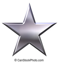 серебряный, звезда