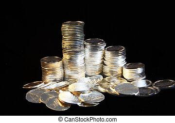 серебряный, coins