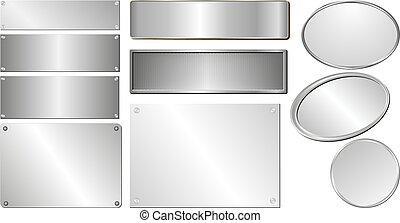 серебряный, plaques