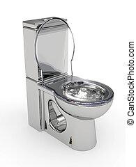 серебряный, wc