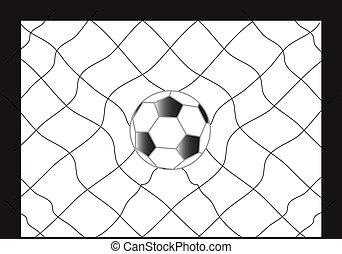 сеть, футбольный, футбол