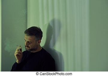 сигарета, человек