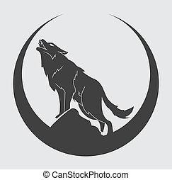 символ, волк