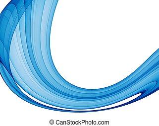 синий, абстрактные, волна