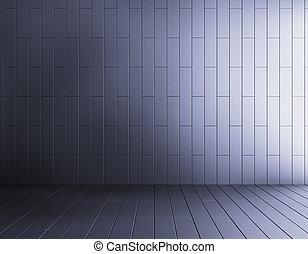 синий, абстрактные, комната, пустой