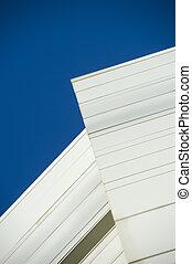 синий, абстрактные, небо, здание