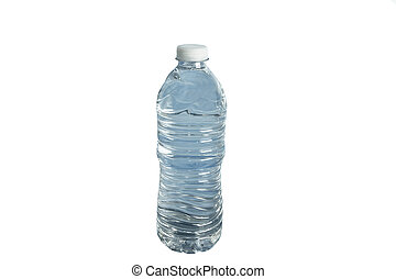 синий, воды, белый, задний план, бутылка