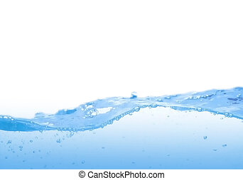 синий, воды, волна