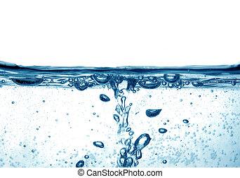 синий, воды, bubbles