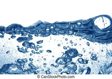 синий, воды, with, bubbles