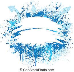 синий, дизайн, белый, гранж