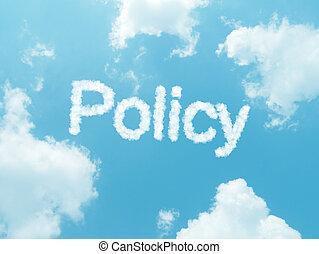 синий, задний план, небо, дизайн, words, облако