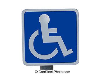 синий, колесо, стул, знак