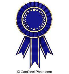 синий, лента, награда