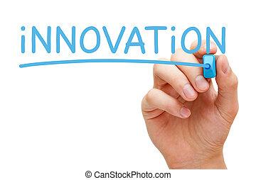 синий, маркер, инновация