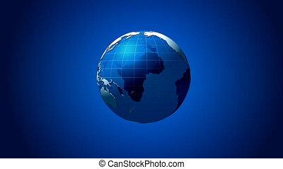 синий, поле, земной шар