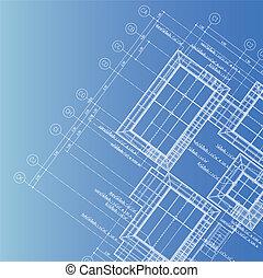 синий, распечатать, архитектор