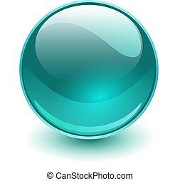 синий, стакан, сфера