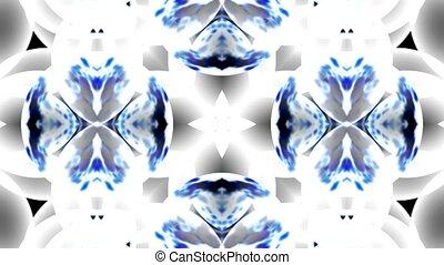 синий, стакан, цветок, фантазия, шаблон