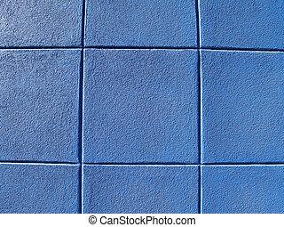 синий, стена, блок