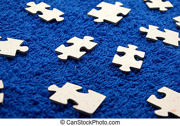 синий, ткань, головоломка, темно