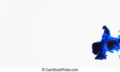 синий, чернила