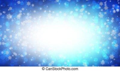 синий, falling, снег