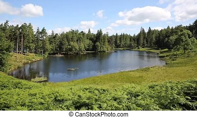 синий, hows, каровое озеро, район, небо, озеро