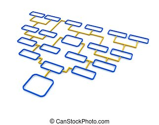 синий, rendered, illustration., diagram., схематический, ...