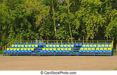 синий, seats, пустой, желтый, пластик