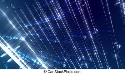 синий, streaks, легкий, темно, background., свечение
