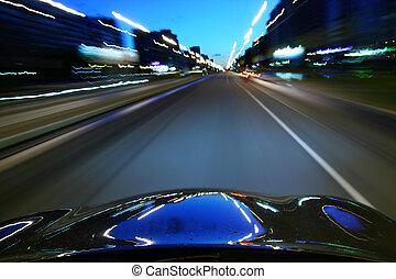 скорость, водить машину