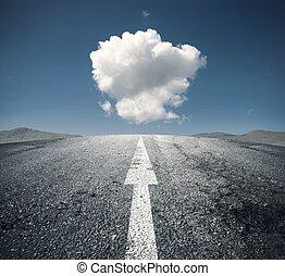 следовать, правильно, путь