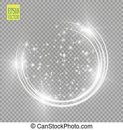 след, легкий, рамка, ring., isolated, круглый, частицы,...