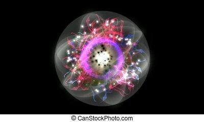 слияние, атом, квант, энергия, поле