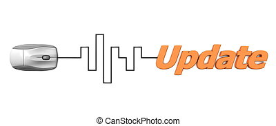 слово, кабель, -, обновить, серый, цифровой, оранжевый, мышь