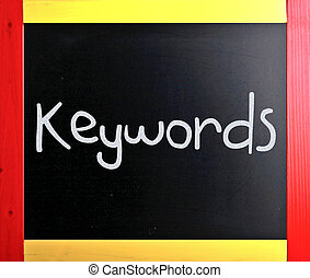 "слово, классная доска, мел, ""keywords"", белый, рукописный"